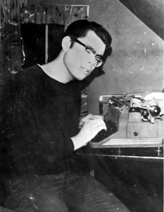 Stephen King (c. 1967) Credit: David King. Photo permission and Courtesy of Stephen King.