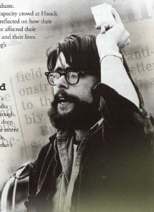 Stephen King at UMO. Credit: University of Maine. Photo permission and Courtesy of Stephen King.