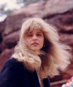 Carolyn in Sedona, Arizona. (Credit Keith Carreiro 1995.)