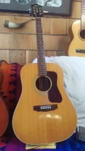 Carolyn's old Guild Guitar. (Credit Keith Carreiro 2016.)