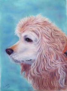 One of Carolyn's pastels. (Credit Keith Carreiro, 2005.)