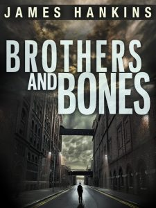 "(Photo permission and courtesy of James Hankins.) Brothers and Bones Kindle Edition, 365 pages Published October 24, 2012 by Amazon Digital Services Sold by: Amazon Digital Services LLC I wrote Brothers and Bones, and though I'm not rating or reviewing the book, I thought I'd write about what made me come up with the idea for the story. It was a single moment several years ago. I was working as a lawyer in Boston and every day after work, as I walked to the subway station, I would pass the same man. He was likely homeless. He dressed in rags. Long hair, long beard. He never asked for money. Most strikingly, he was usually talking to himself -- or seemingly to a mailbox or a parking meter. Sometimes these dialogues were heated. One day, I imagined walking past him and having suddenly look up and say, very clearly and lucidly, ""Hi, James,"" before returning to his animated self-dialogue. I found the thought to be creepy and I wondered what could be behind such a moment. And Brothers and Bones was born."